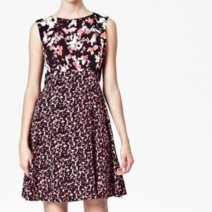 French Connection Woodland Confetti Crepe Dress